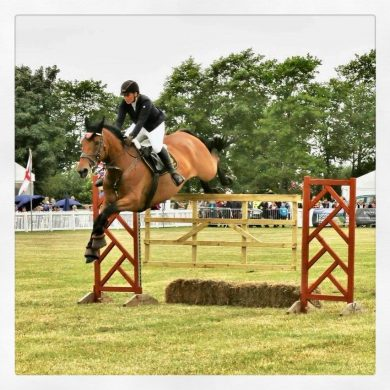 Sponsored Rider 2nd at Cheshire Show